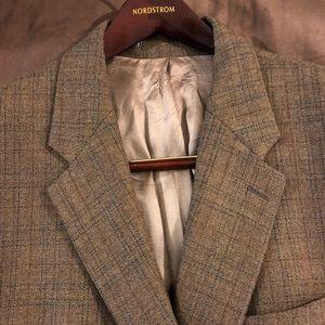 Chaps Ralph Lauren Brown Plaid Sport Coat 46S